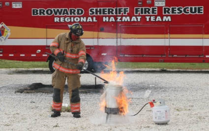 BSO Fire Rescue turkey fryer demo
