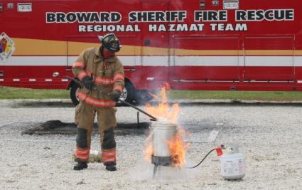 BSO Fire Rescue turkey fryerdemo