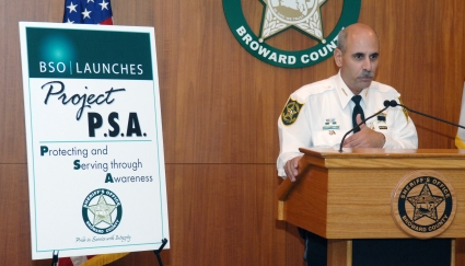 Sheriff Al Lamberti announces Project PSA