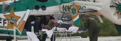Alligator bite victim airlifted by BSO to BGMC