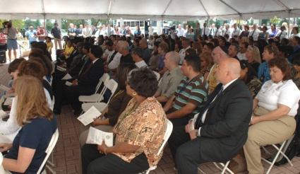 Hundreds gathered outside the public safety building for BSO's National Day of Prayer event.